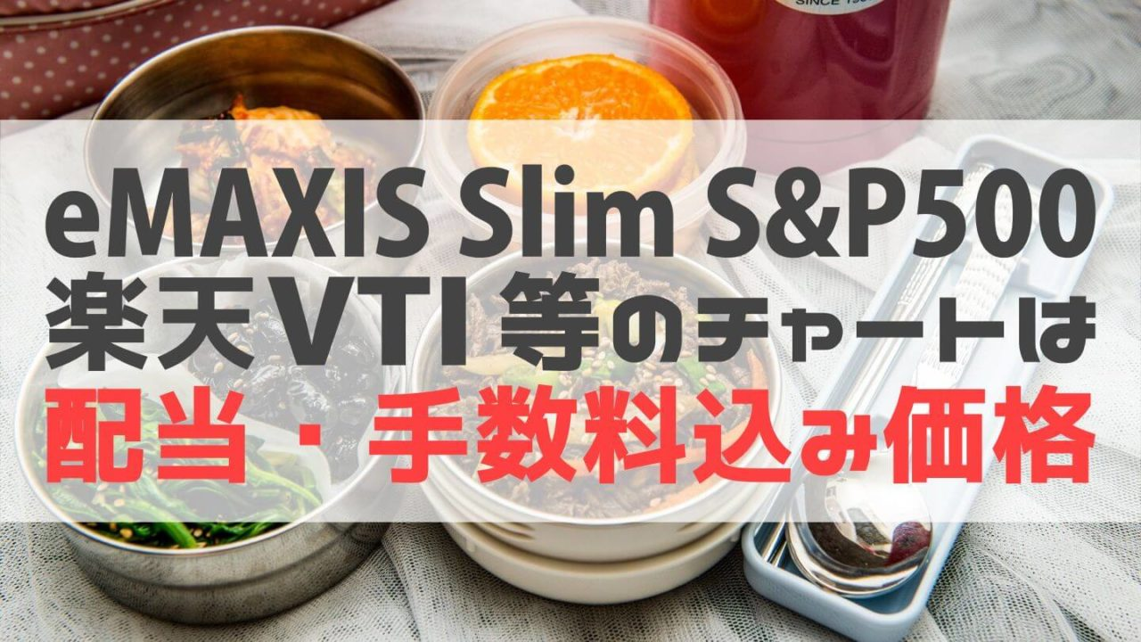 eMAXISSlimS&P500や楽天VTIのチャートは配当・手数料込み価格