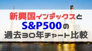 新興国インデックスとS&P500の30年比較2
